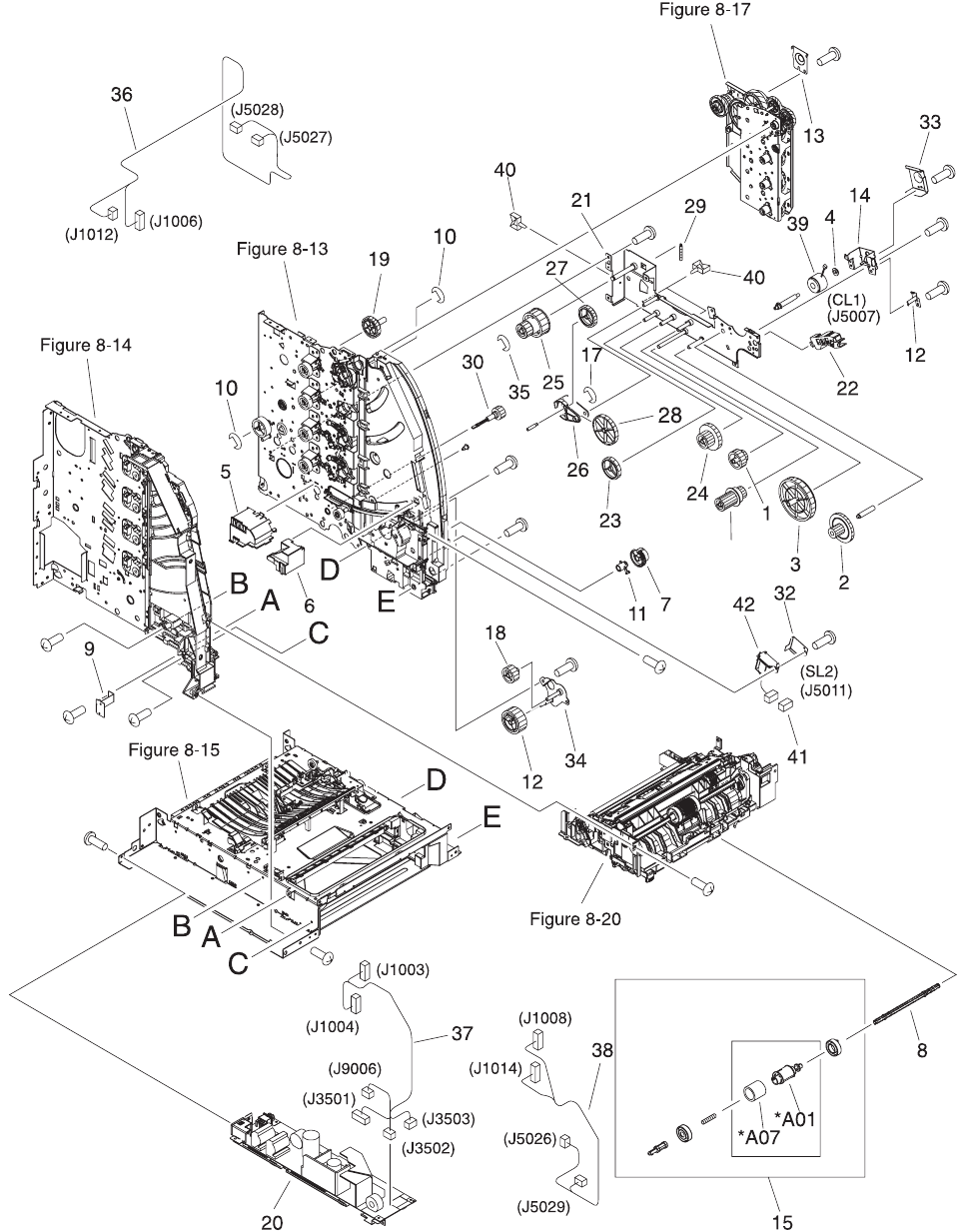 hp paper pickup roller assembly includes the d shaped rubber Bridge Wiring Diagram 476parts and diagrams enww