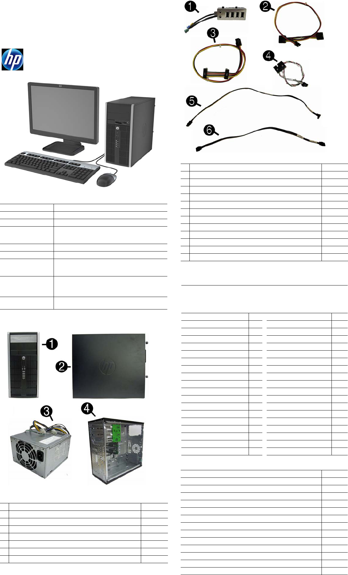HP Compaq 6300 Pro, MT 690363-001 Illustrated Parts & Service Map