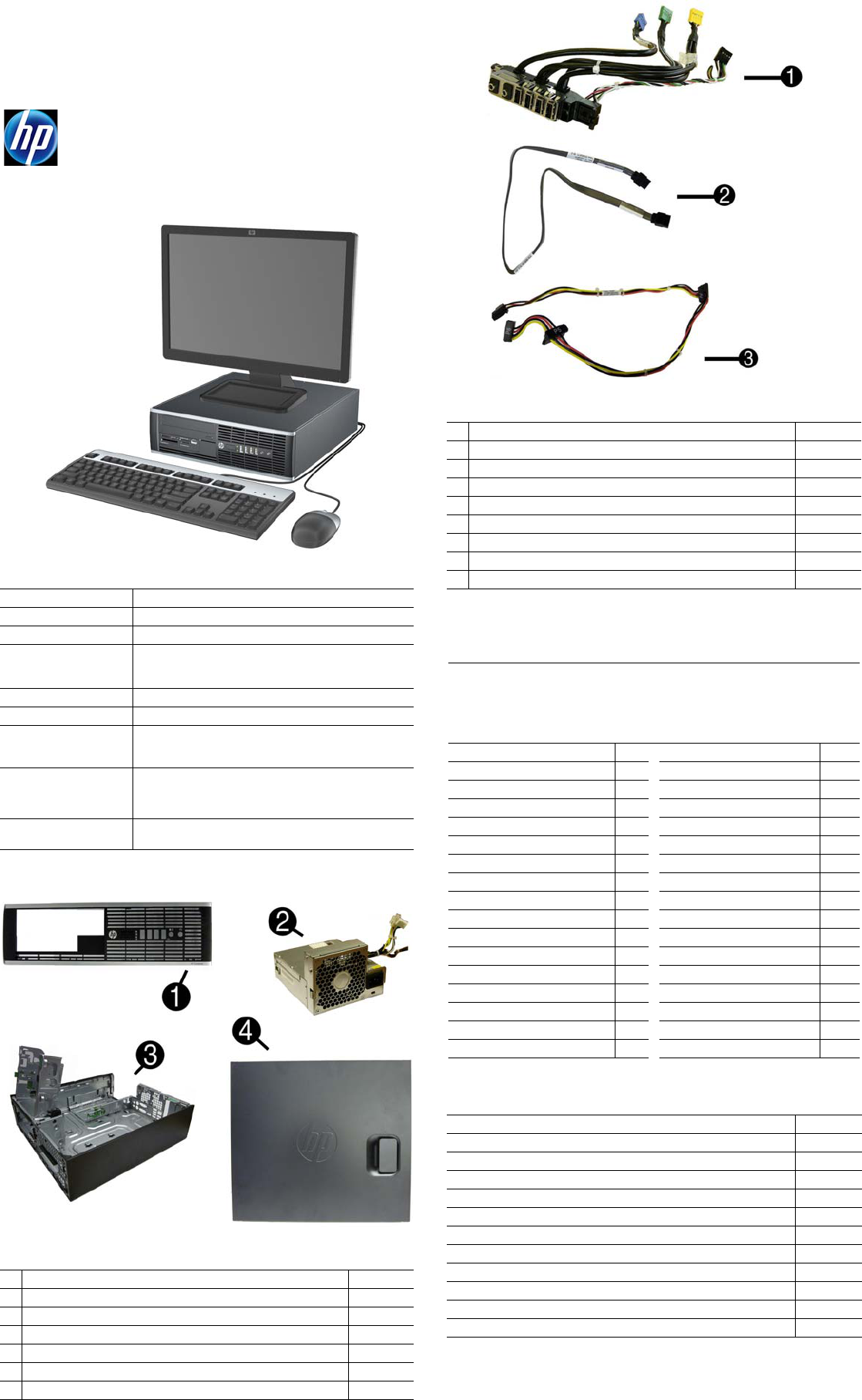 HP Compaq 8300 Elite, SFF Chassis 690358-001 Illustrated Parts