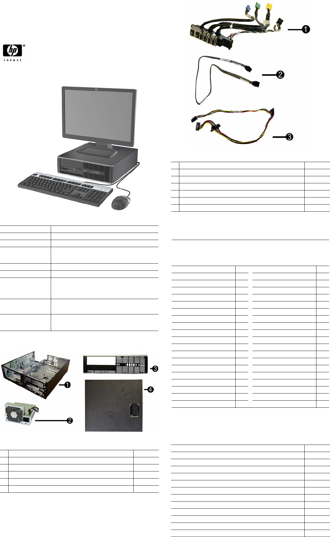 HP Compaq 6000 Pro, SFF Chassis 581652-001 Illustrated Parts