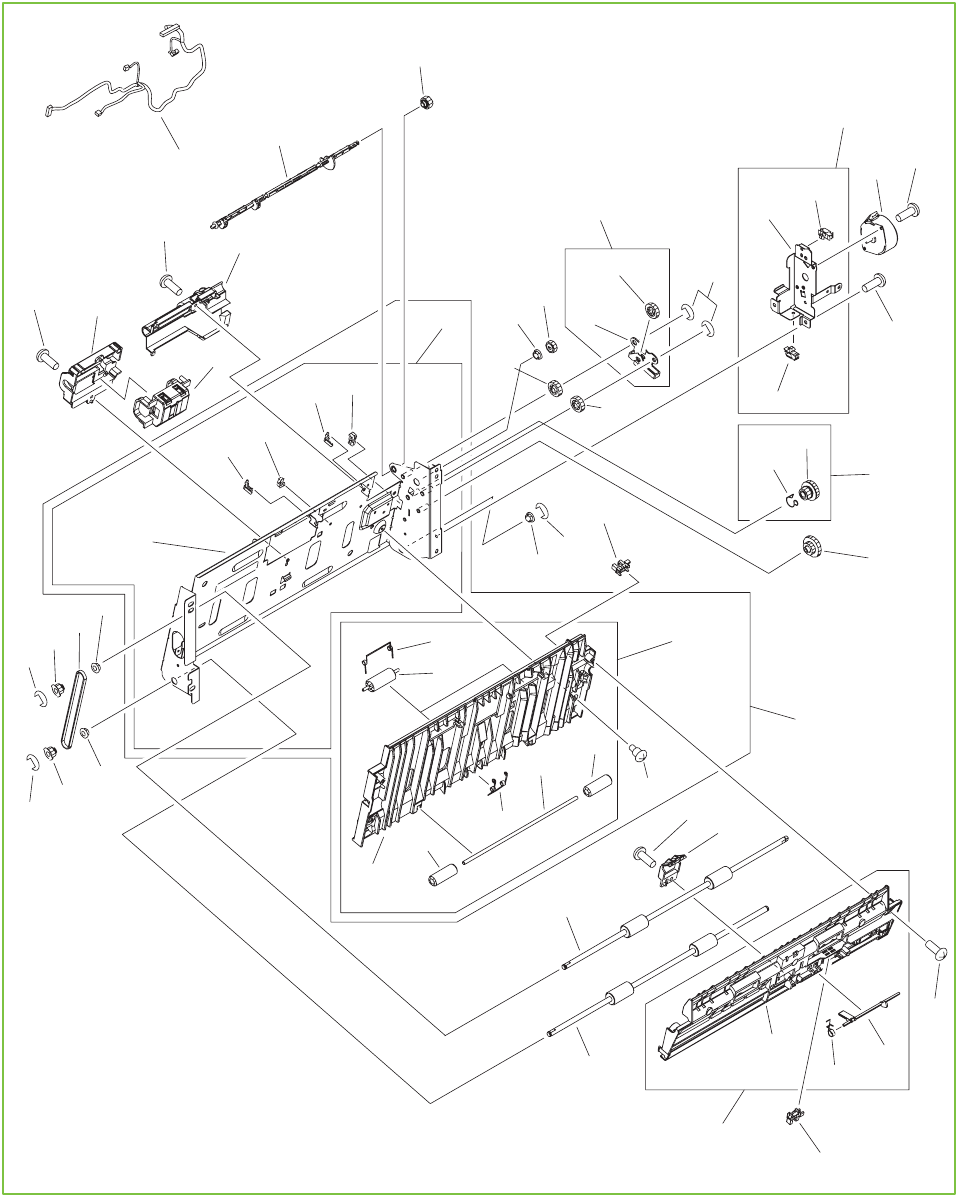 Figure 9-20 Printer duplexing-feed assembly