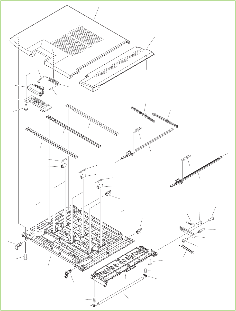 Figure 9-31 Intermediate-feed upper-guide assembly