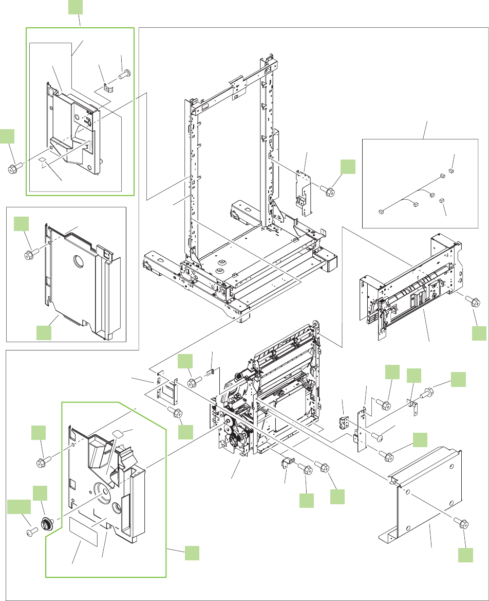 Q3938 67964 Hp New Duplex Switchback Tray Schematic Maker Jam And Jelly Diagram Image In Figure 9 43 Finisher 5 Of Stapler Stacker Booklet
