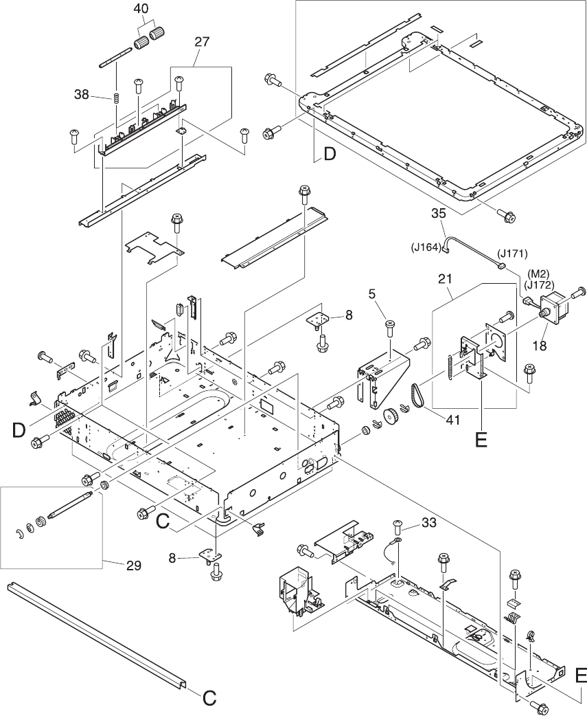 rg5 6318 030cn hp new cooling fan assembly includes fan filter Aircraft Wiring Diagram figure 8 7 flatbed scanner assembly 2 of 3