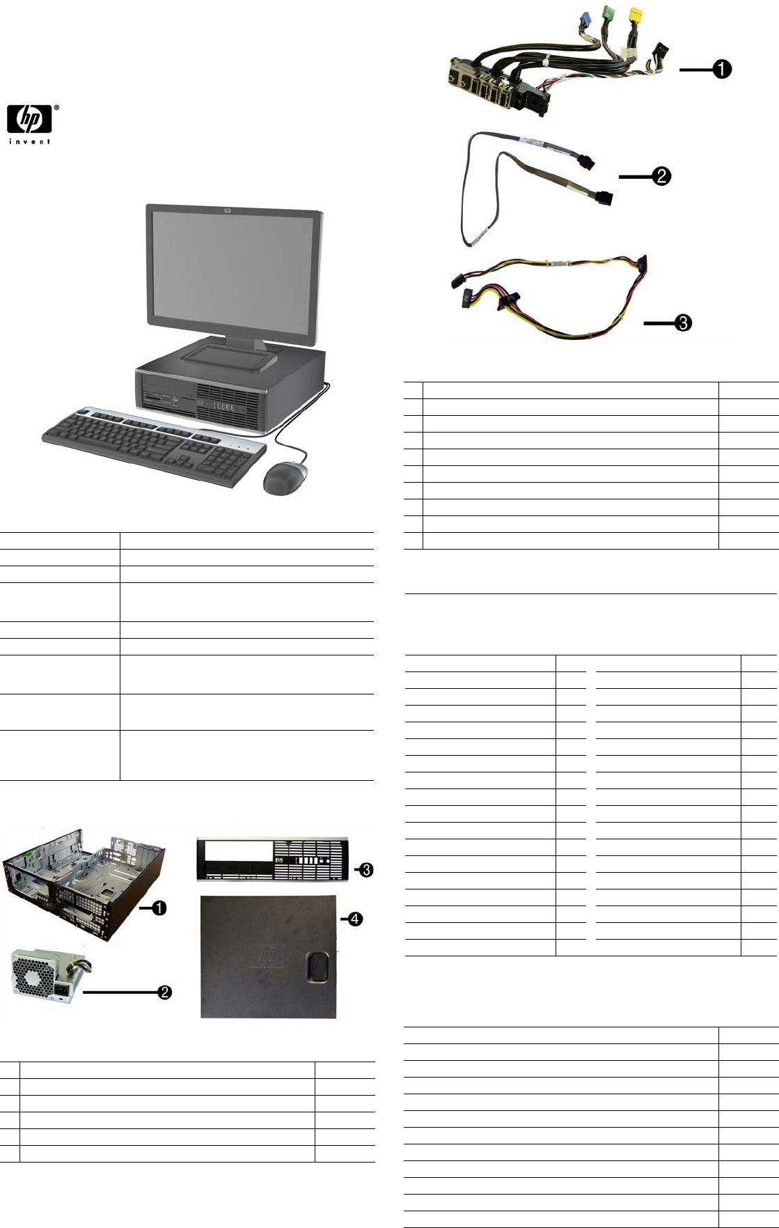 HP Compaq 8100 Elite, SFF Chassis 605652-001 Illustrated