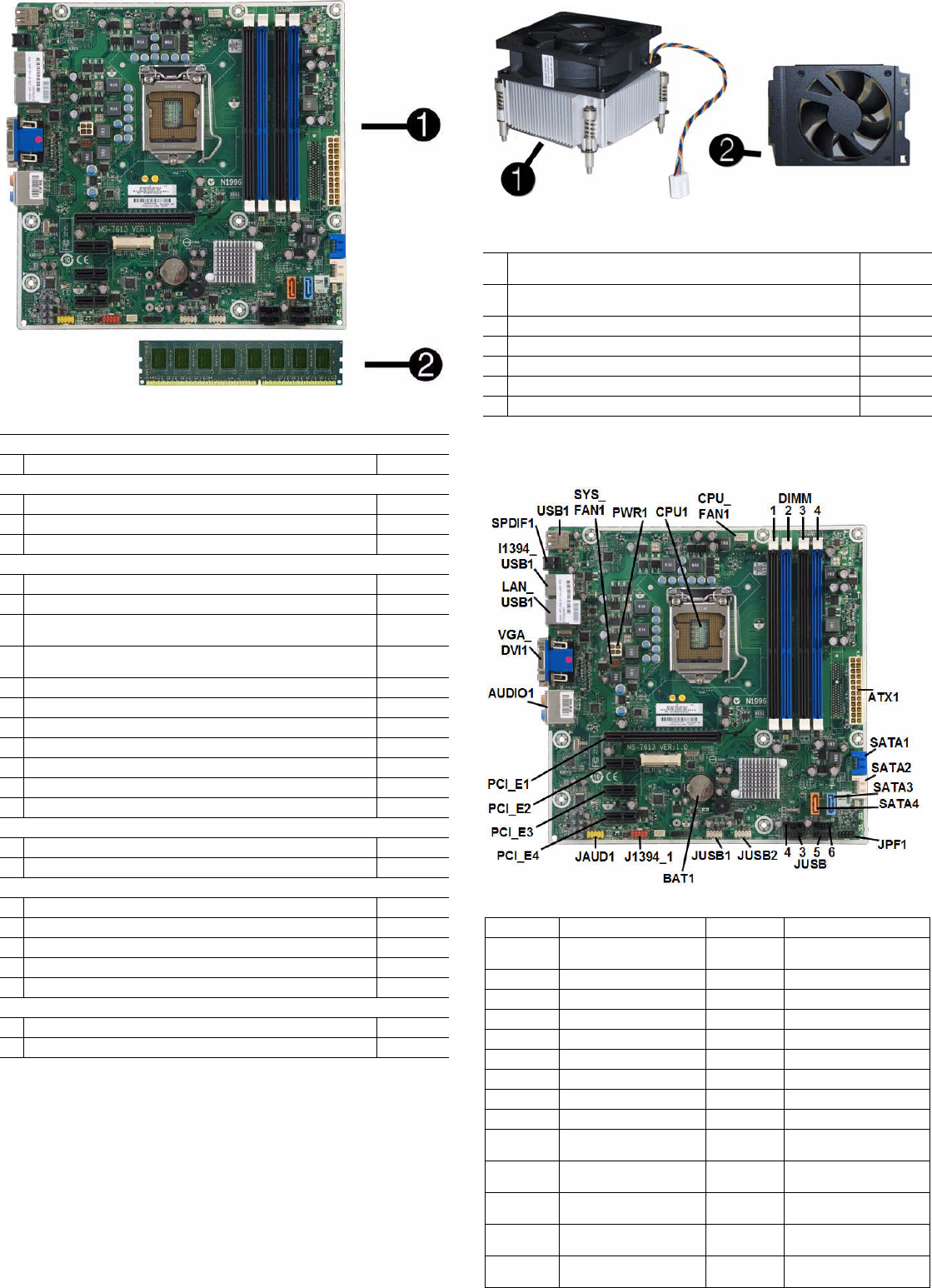 Illustrated Parts & Service Map HP Pro 3130 Business PC