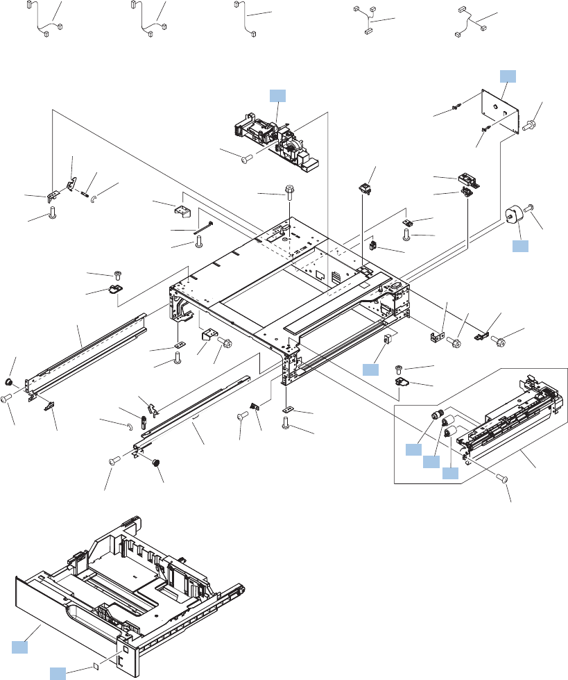rm1 6045 000cn hp new multi purpose tray 1 assembly Carrier Wiring Diagram paper feeder internal ponents