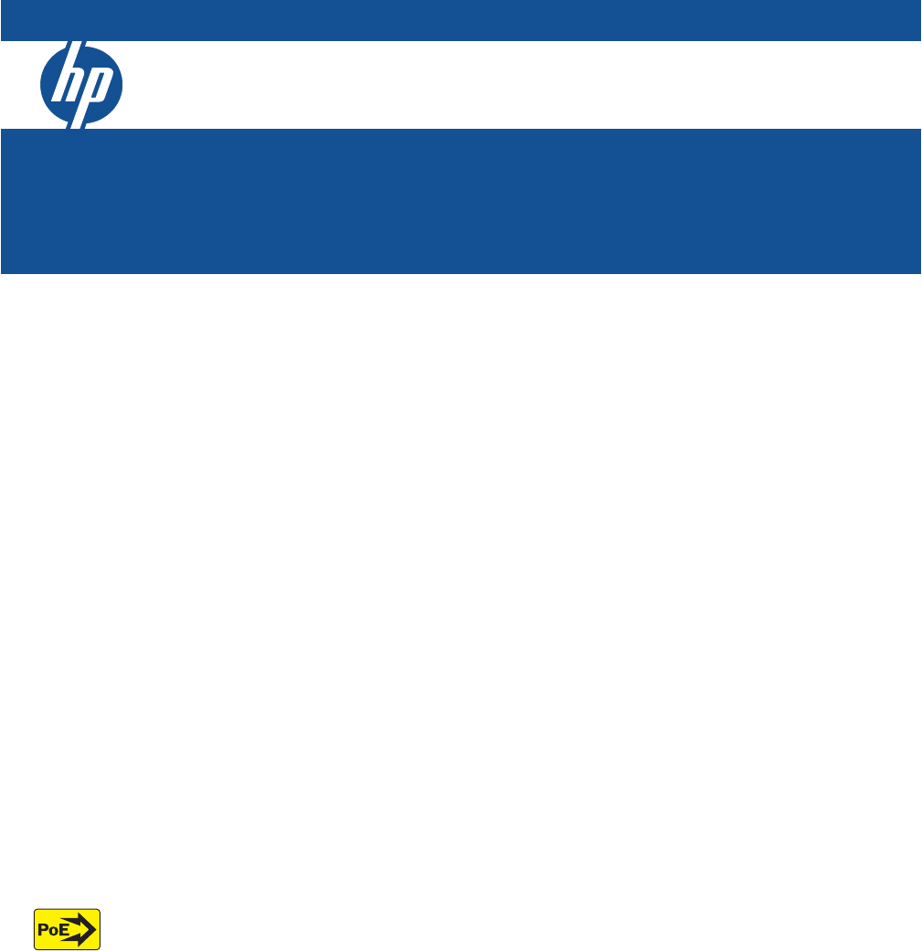 Hp Procurve 2915 8g Poe And 2615 8 Poe Switches Installation And Getting Started Guide