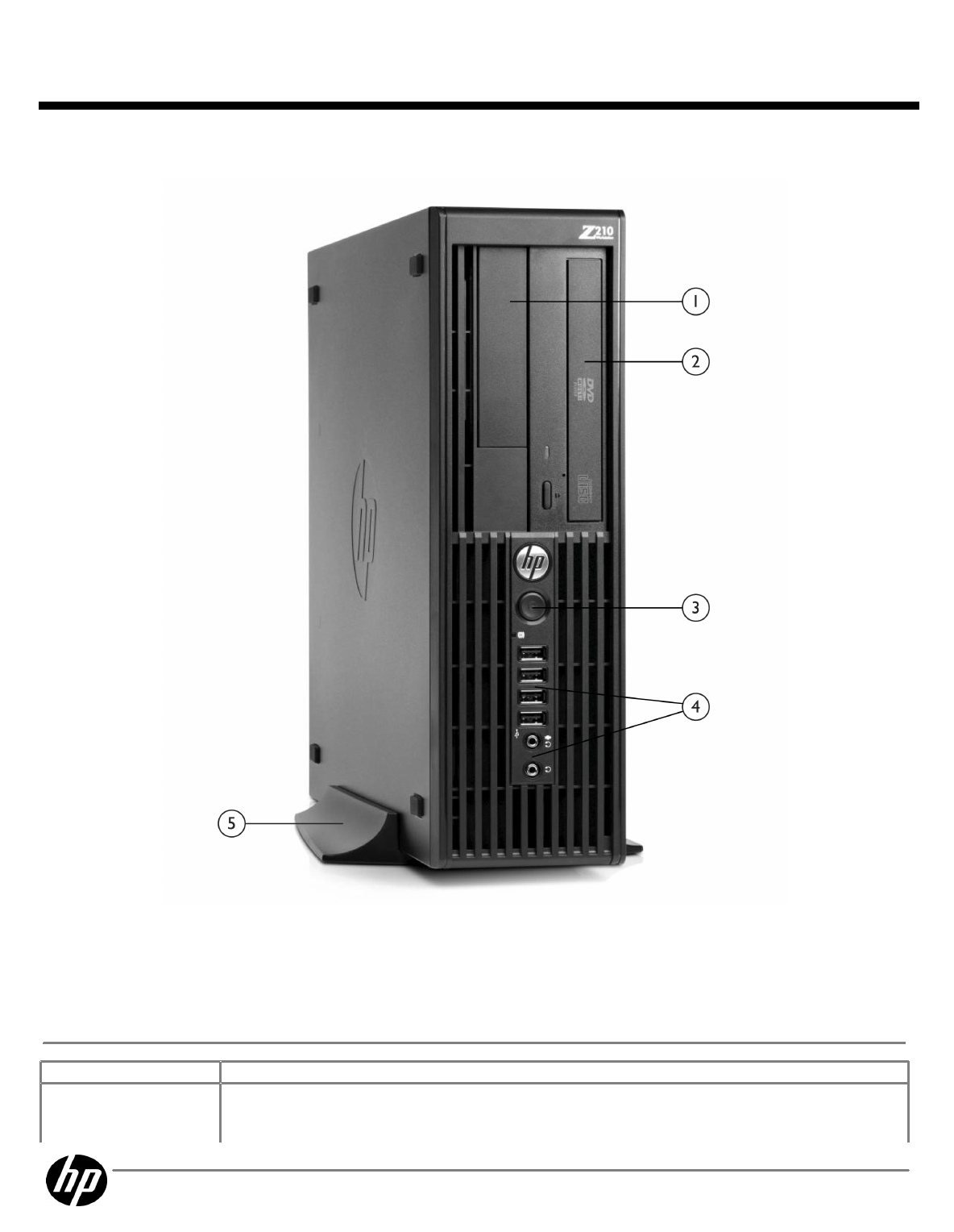 QuickSpecs HP Z210 SFF Workstation