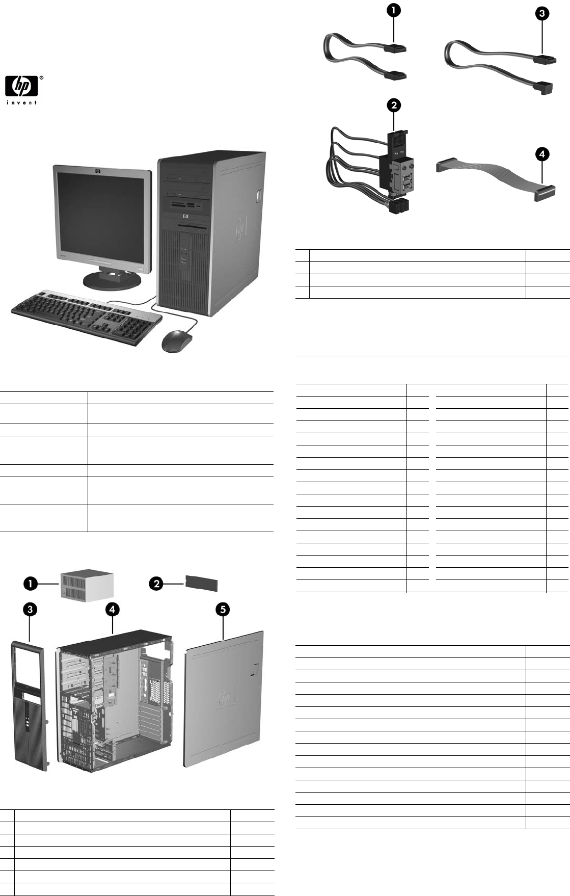 Illustrated Parts & Service Map HP Compaq dc7800 Convertible