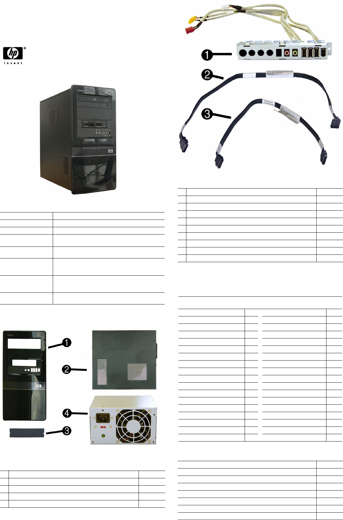 Illustrated Parts & Service HP Compaq dx7500 Business PC Microtower
