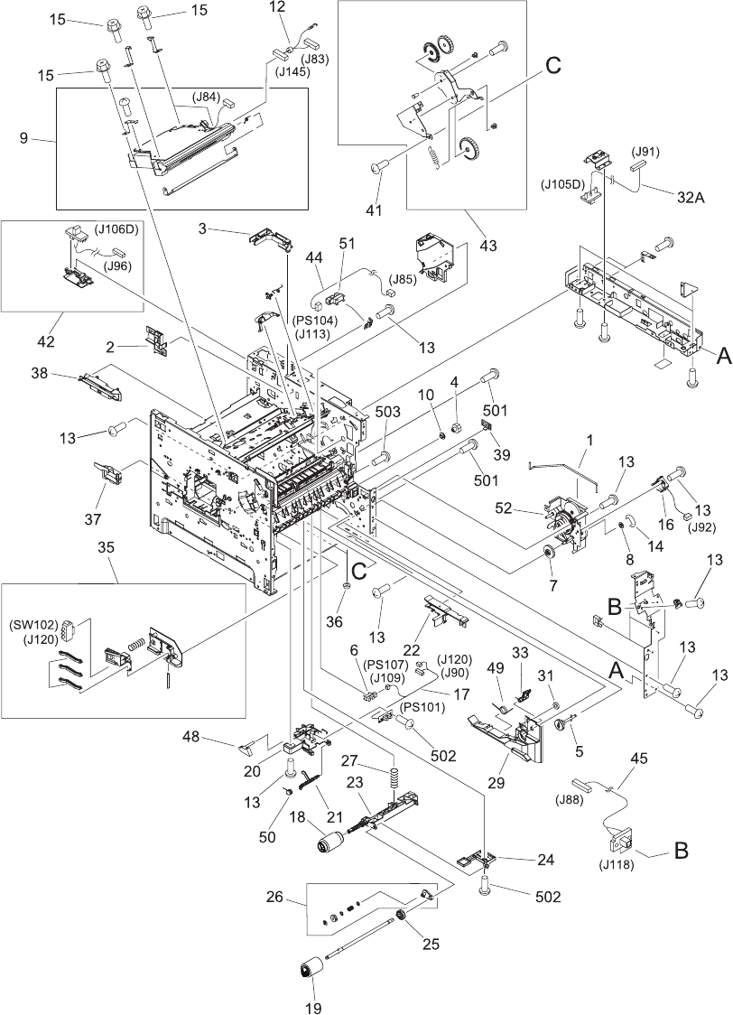 Figure 8-7 Internal components (2 of 3)