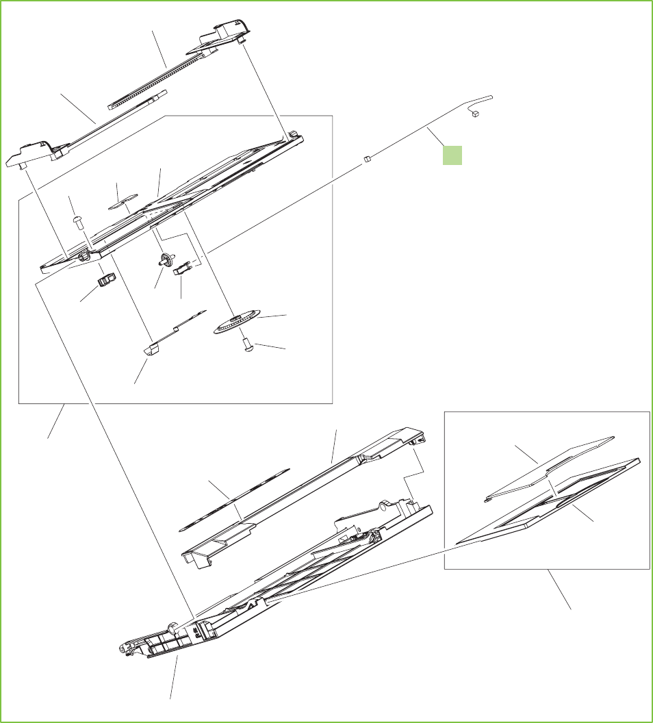 Rm1 3293 010cn Hp New Face Down Paper Delivery Assy Diagram 18 19 Midland 805 Figure 9 Printer Multi Purpose Tray Assembly