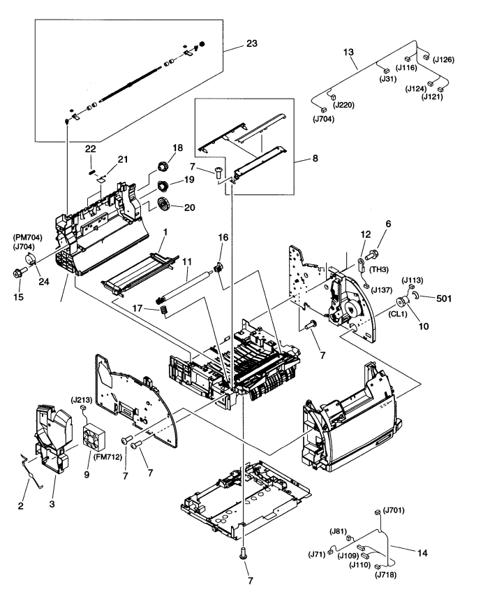 Hp Laserjet Quick Reference Parts Guide