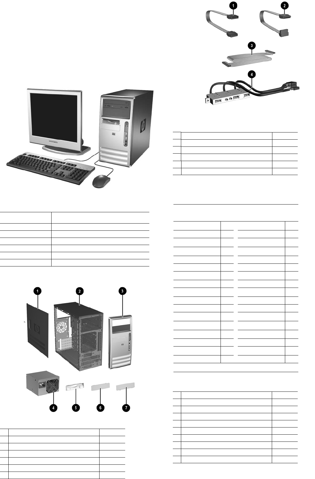 Illustrated Parts & Service Map HP Compaq dx7300 Microtower Business PC