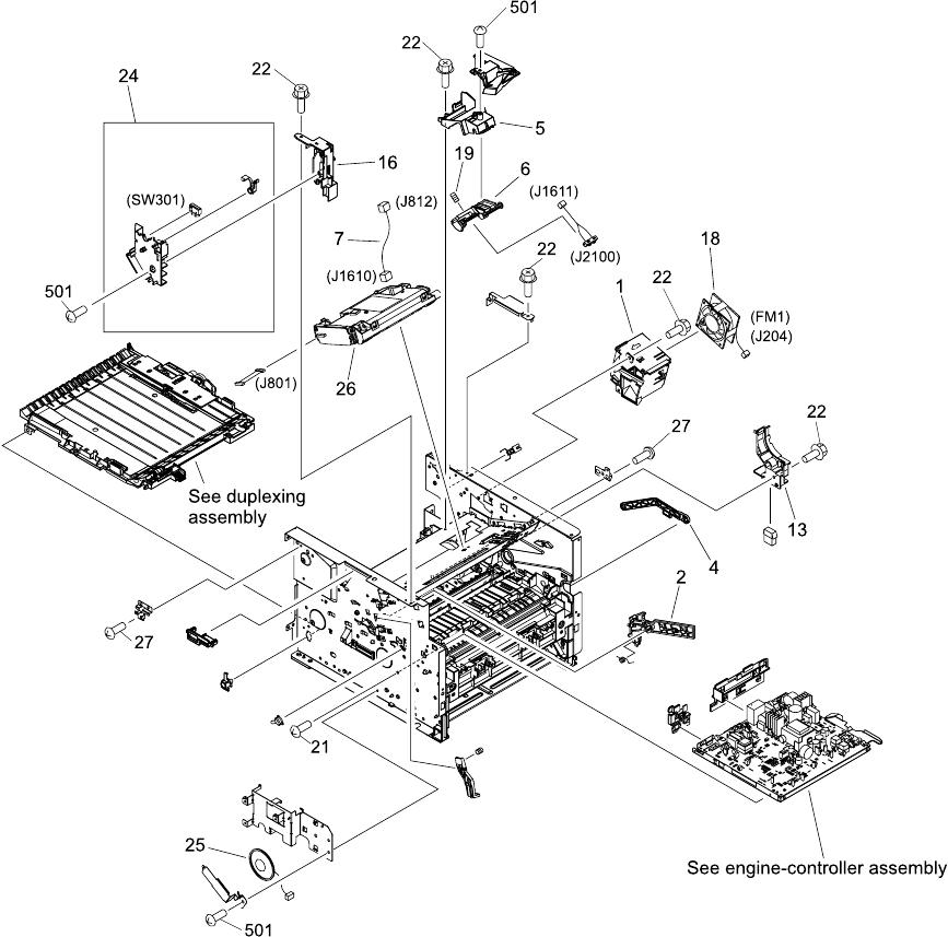 Hp Laserjet 33903392 All In One Service Manual