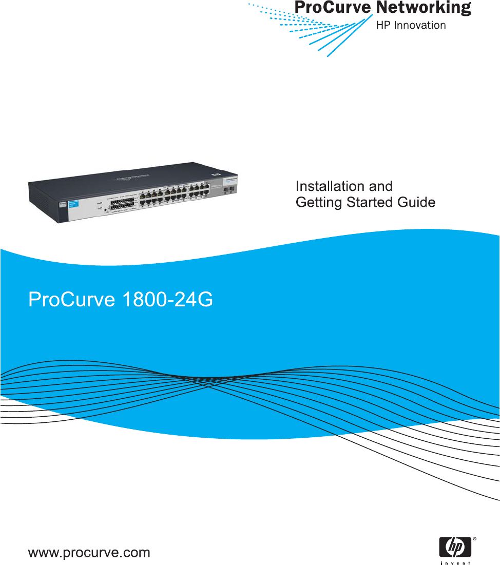 ProCurve Switch 1800-24G Installation and Getting Started Guide ...