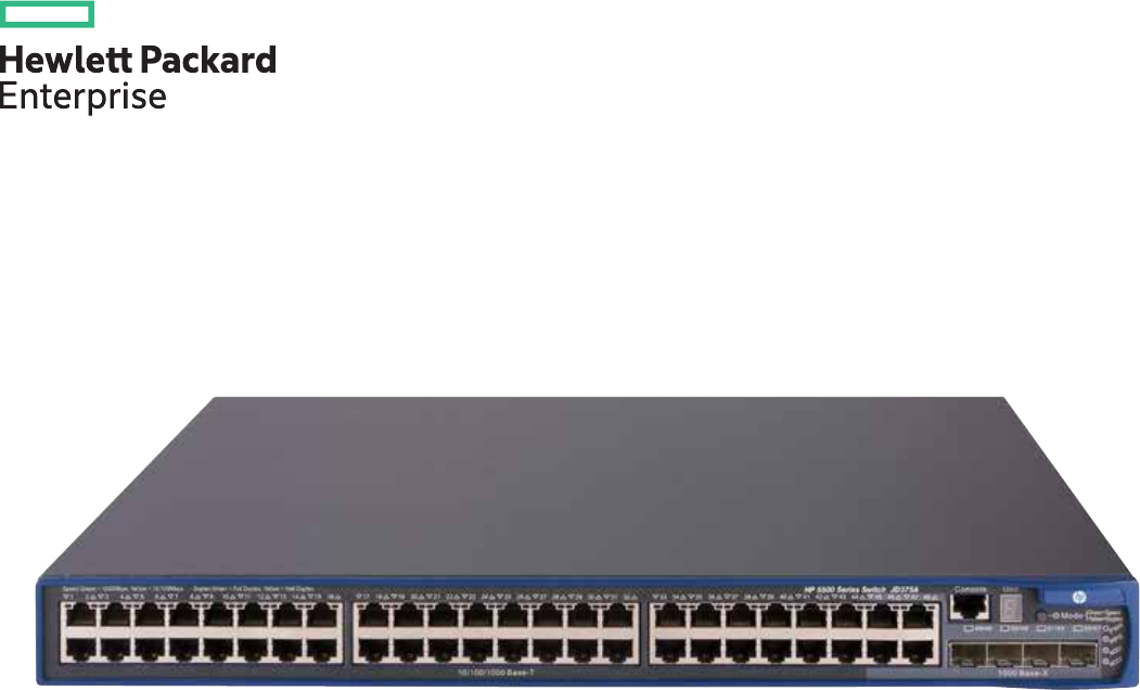 HP 5500-48G-PoE+-4SFP HI Switch with 2 Interface Slots