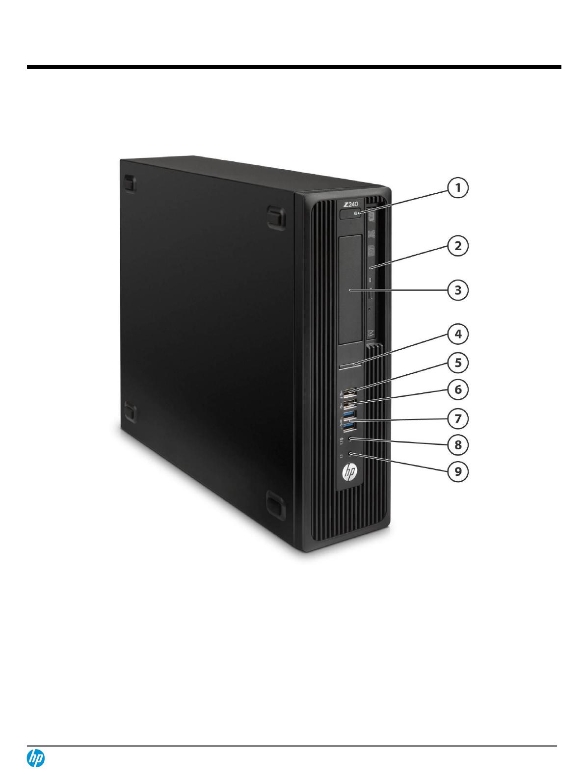 QuickSpecs HP Z240 SFF Workstation