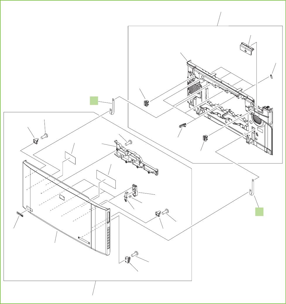 Figure 9-4 Printer front-door assembly