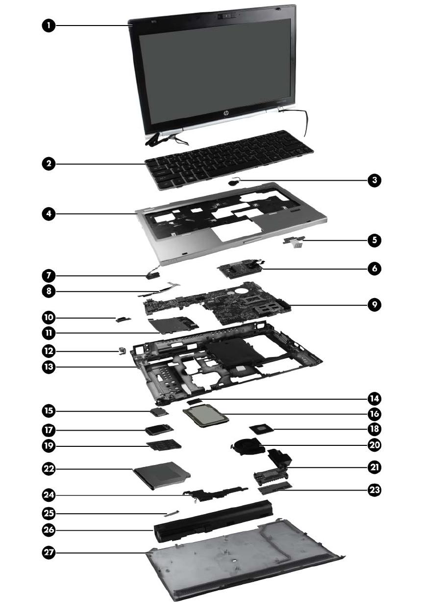 HP Keyboard 651390-071 SPANISH