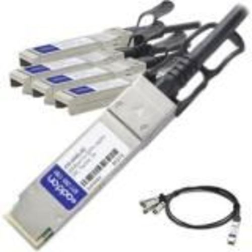 40GBase direct attach cable - SFP+ (M) to QSFP+ (M) - 10 ft - twinaxial - passive - TAA Compliant - for Dell EMC Networking S4048, EMC PowerEdge R440, R540, R740, Networking S6000, S6010