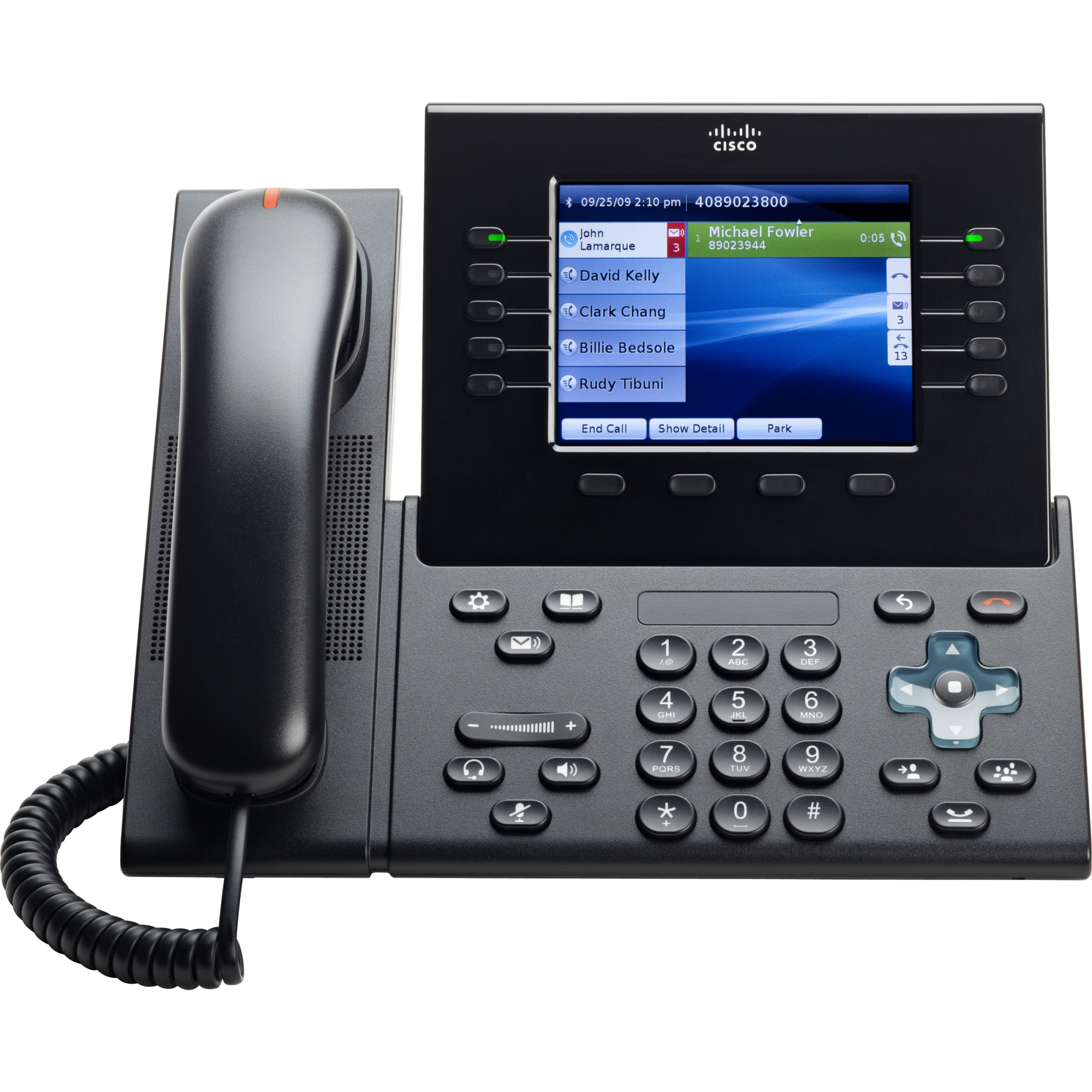 Unified IP Phone 8961 Standard - VoIP phone - SIP - multiline - charcoal gray
