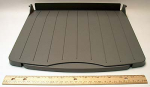 ADF paper output tray - Includes the tray with pull-out extension - Receives scanned pages from the ADF assembly - Mounts on the left side of the ADF/scanner assembly
