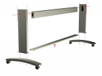 Bottom cross-brace - Brace that connects and supports the two stand legs - For 60-inch version