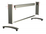 Top cross-brace - Brace that connects and supports the two stand legs - For 60-inch version