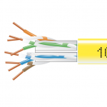 1000-FT YELLOW CAT6 SOLID CABLE 550MHZ UTP CMP