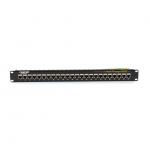 CAT6 PATCH PANEL FEED-THROUGH 1 U SHIELDED 24-PORT