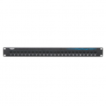 CAT6 PATCH PANEL FEED-THROUGH 1 U UNSHIELDED 24-PORT