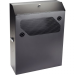 LOW-PROFILE VERTICAL WALLMOUNT CABINET - 4U 24IND EQUIPMENT