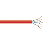 1000-FT. RED CAT6 250-MHZ SOLID CABLE UTP CMP
