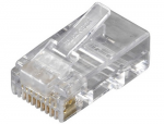 100-PACK RJ45 UNSHIELDED MODULA R PLUG 6-WIRE