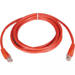 10ft Cat5e / Cat5 350MHz Molded Patch Cable RJ45 M/M Red 10 feet - Patch cable - RJ-45 (M) to RJ-45 (M) - 10 ft - UTP - CAT 5e - molded stranded - red