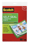 Scotch - 10 - clear - 9.063 in x 11.626 in self-seal glossy laminating pouches