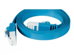 10 FT CAT6 ETHERNET PATCH CABLE; FLAT CABLE WITH RJ-45 CONNECTOR BLUE COLOR (1-