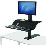 Lotus VE Sit-Stand Workstation - Desk mount for LCD display / keyboard / mouse - wood veneer - black ash