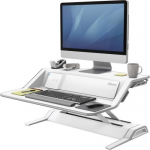 Lotus DX Sit-Stand Workstation - Stand (charge only) for LCD display / keyboard / mouse - white