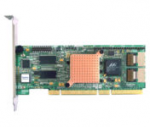 Two channel SAS Host Bus Adapter (HBA) with RAID (Installs in PCI-X slot) - Has eight internal ports two channels 3.0Gb/sec SAS and 1.5Gb/sec SATA tranfer rate - For use with hot-plug SATA/SAS servers