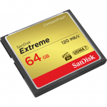 Extreme 64 GB CompactFlash (CF) Card - 120 MBps Read - 60 MBps Write - 1 Card - 400x Memory Speed