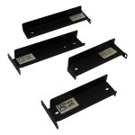 2 Post Console KVM Rackmount Kit B020B021B040 B070 Consoles - Rack mounting kit - black powder