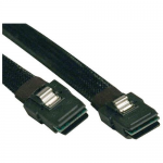 18in Internal SAS Cable Mini-SAS SFF-8087 to mini SAS SFF-8087 18 inch - SAS internal cable - with Sidebands - 4-Lane - 36 pin 4i Mini MultiLane (M) to 36 pin 4i Mini MultiLane (M) - 1.5 ft - black