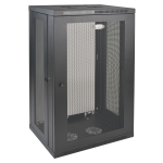 21U Wall Mount Rack Enclosure Server Cabinet with Door and Side Panels - Rack - cabinet - wall mountable - black - 21U - 19 inch