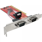 2-PORT DB9 (RS-232) SERIAL PCI CARD WITH 16550 UART FULL PROFILE
