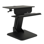 Sit Stand Desktop Workstation Height Adjustable Standing Desk - Standing desk converter - rectangular - black
