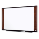 Dry Erase Board - 96 inch Width x 48 inch Height - Surface - Mahogany Frame - Film - 1 / Each