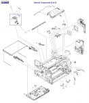 Laser/Scanner assembly - Mounts on the support structue in the print engine frame assembly